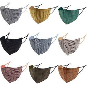 Masque de visage design Hommes Femmes Automne hiver Masques de coton chauds en coton lavable en velours Velvet Stripes Mask masculk pour garçons filles expédition rapide