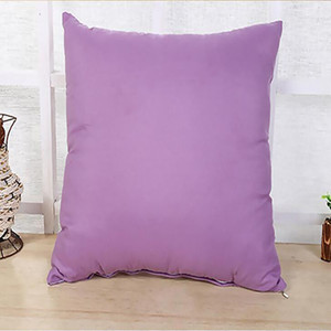 Home 45 * 45CM Home Sofa Throw Pillowcase Pure Color Polyester White Pillow Cover Cushion Cover Decor Pillow Case Blank christmas DHC3931
