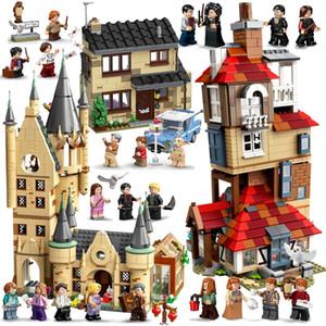 Magie Tiere Schloss Harrid Building Blocks Ziegel Potter Cartoon Action Figure Spielzeug Spiel Modell Anime Geschenk für Kinder X0102