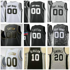 Tony 9 Personnalisé Tony 9 Parker Manu 20 Ginobili David 50 Robinson 45 Tyler Zeller San Antonio Spurs Hommes Femmes Enfants Basketball Maillots