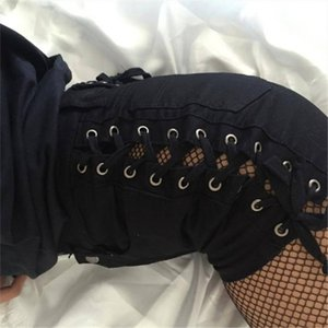 Fashion-Sexy Hot Shorts Women Bandage Shorts Black White High Waist Hips Up Street Clothing Short