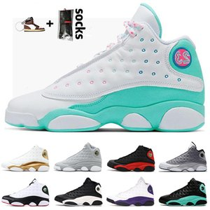 New 13 13s Jumpman Flint 2021 Basketball Shoes Mens Womens Lucky Green Bred Soar Playground Lakers Sports Sneakers Trainers Size US 13