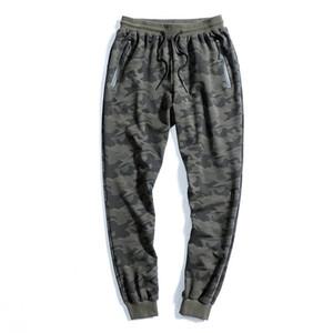 Hombres Casuales Joggers Pantalones Algodón Sportswear Camuflaje Sweetpants Mens 2020 Primavera Otoño Hombres Pantalones Pantalones Gimnasios transpirables 5XL