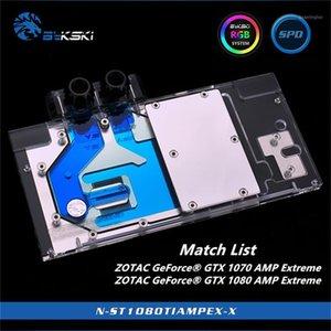 Bykski Copertura completa GPU Blocco d'acqua per Zotac GeForce GTX 1070 1080 TI AMP Scheda grafica estrema N-ST1080TIMPEX-X1