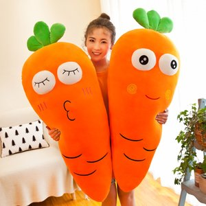 [Funny] 100cm Very cute soft expression radish carrot Stuffed plush toy Hold pillow Home Decoration Girl Birthday Gift