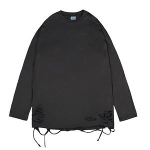 High Street Mens T-shirt Fantais T-shirt T-shirt à manches longues solides