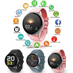 Full Touch Screen Smart Watch Women Multifunctional Sport Heart Rate Blood Pressure IP67 Waterproof Smartwatch+Box