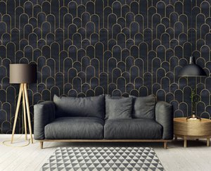 Bacal Removable 3D Wallpaper Mural Geometric Wallpapers Modern Art Deco Black 5d Vintage Wall Paper Home Decor