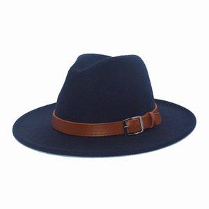 Mens Winter Fedora Hat Warm Woman Hat Wide Brim Medium Width Gorra Hombre Gentle Man Fashion