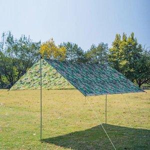 Camping Sun Shelter Ultralight Outdoor Waterproof Tarp Beach Tent Rain Awning Mat Shelter Shade Sunshade Garden Canopy K2U7
