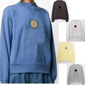 Frauen 2020ISA MAR Sweatshirt Micro-High Collar mit Plüsch-Sweater-Stickerei Flocking Logo Print Sweatshirt Loose Herbst Winter 5color