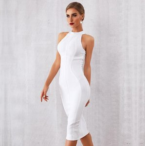Summer Women Bodycon Bandage Dress Elegant Tank Sexy Sleeveless Club Celebrity Evening Runway Party Dresses
