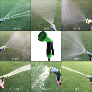 Garden Hose Spray Nozzle 8 Pattern Heavy Duty High Pressure Wash Garden car irrigation tools Washing Water Gun Shower Head