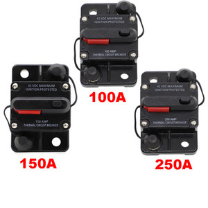 150A AMP Circuit Breaker Dual Battery Manual Reset IP67 W proof 12V 24 Volt Fuse Free Shipping with Tracking Numble