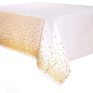 Dot Tablecloth Disposable Gilding Multi Color Fashion Convenient Table Cover Decoration Kitchen Party Supplies Gifts New 2 6wp K2