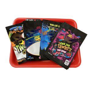 New Worms E Crawlers Sour Mylar Bags para Gum Edibles Brite Edibles 420 TERP Crawlers Muito Berry Sour Twist Clow Sacos Gum Embalagem NQKJT