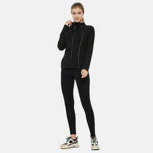 Фитнес бегущий куртка йога тренировка застежка для молнии женские оздоровления длинный рукав бегагинг толстовка тренажерный зал тренировки бег спортивная одежда Y201001