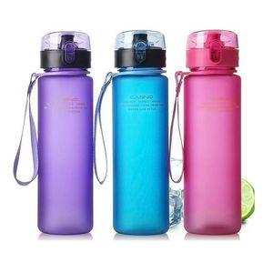 400ml 560ml Bicycle Water Bottle BPA Free Leak Proof Sports Water Bottle High Quality Tour Hiking Portable Bottles