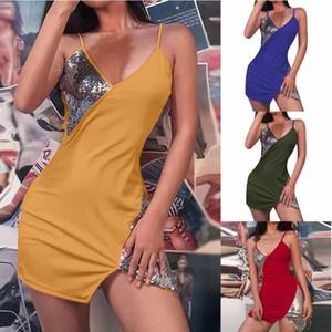 Новая женская одежда европейской и американской без рукавов подвеска длительная юбка горячая распродажа сексуального ночного клуба подвесшее платье