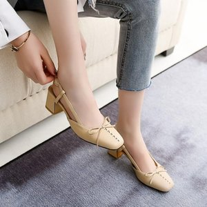 Oversized 12 high heels sandals women shoes woman summer ladies Square bow with thick heel and buckle sandals