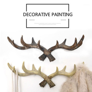 Retro Hat Porch Key Mounted Antlers Handbag Hook Resin Coat Decor Scarf Holder Hanger Wall Storage Racks Restaurant Hooks Crafts1 Fgbxg