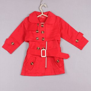 Clearance sale New Arrival Children fashion garment Girls trench coat girl spring and autumn coat Sundress two wear girls coats Z124
