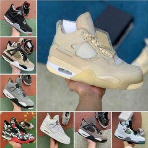 2020 Non imbattuto x 4s 4 Mens Scarpe da basket 3 Bred Bred Bianco Cemento Rasta Rasta Rapace Sail Retroes Vartity Royal Sneakers