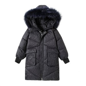 Children's down jacket, long 2020 new girls down jacket foreign high child fashion winter jacket wholesale