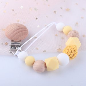 Beschwichtigung Baby-Schnuller Clip Silikonhalter Clips Molar Toys Anti-Dropping-Kettenlänge Moderate schöne Erscheinungsbild Babys Produkte 5BQ d2