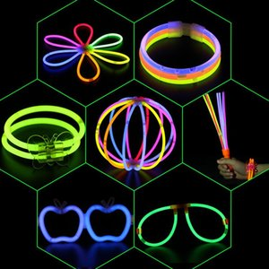 2020 accessories for Glow Stick Bracelet Necklaces Neon Party LED Flashing Light Stick Wand Novelty Toy Vocal Concert glasses handheld