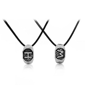 "The Mortal Instruments City Of Bones Letter ""H"" ""W"" ""L"" Circle Pendant Necklace For Women Charms"