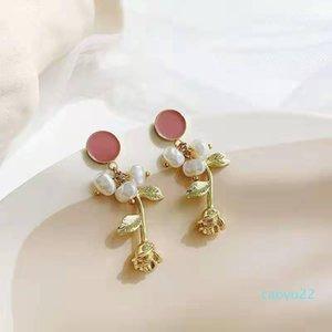Hot Sale S925 needle Chinese Peking Opera style retro long temperament tassel earrings pearl personality earrings