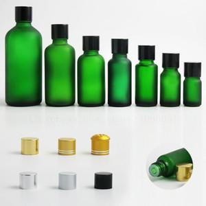 저장 병 항아리 20 x 여행 빈 젖빛 녹색 유리 병 용기 vial tamper exident black gold silver cap 5 10 15 50 100 ml