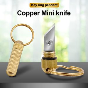 Capsule Steel Copper Keychain Open Brass For Portable Multi-function Mini Stainless Outdoor With Cutting Blade Knife Box + Tools Twwmv