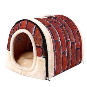 Transer Cama Perro Pet Dog Cat Bed House Warm Soft Mat Bedding Igloo Basket Kennel Washable Snug Hondenmand 18 Dec28 Y200330