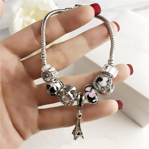 Femmes Fashion Bracelets Designer Bijoux de luxe Bracelet Perles Strands Charme Bracelets Lady Snake Chaîne Robe Dracelets Original Cadeau Coffret