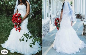 Wanshaqin Mermaid Wedding Dress Bridal Dress Lace Up Corset Plus Size Wedding Dresses
