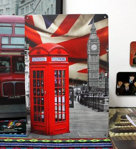 """X-0260 about"""" famous building big ben and telephone """"metal tin signs vintage decorative plates poster wall art craft 20X30cm"""