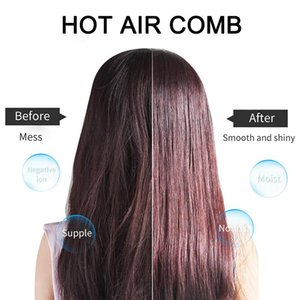 2020 Hot Sale 1 Hot Air Brush Straightener 3-in-1 Multifunctional Hair Styling Tool Straightening and Curling Tool