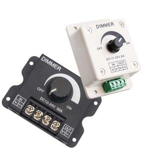 Black LED Dimmer DC 12V 24V 30A 8A Adjustable Brightness Dimmer Controller Switch For Lamp Bulb Strip Driver Single Color Light
