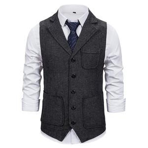 Markyi 2021 Moda Slim Fit Mensteess Wedteess Waistcoat Hombres diseñan un solo traje de pecho chaleco para hombres