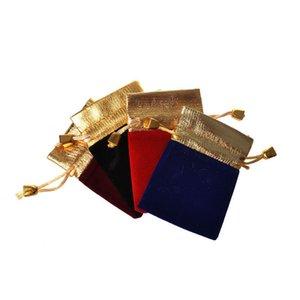 7 * 9 cm coulisse con coulisse flanella Phnom Penh sacchetto nero gioielli in velluto pettine gioielli imballaggio doppio coulisse piccolo borsa pacchetto flanella