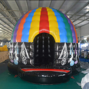 Outdoor Inflatable Disco Dome Bouncy Jumper House with Magic Led Light for Events Parties Dancing Disco Dome with Lights Disco Bounce House