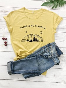 Star moon Planet Graphic Top There is no Planet B T-Shirt Funny Planet Slogan Christian Stylish Tee Feminist Vintage shirts A1112