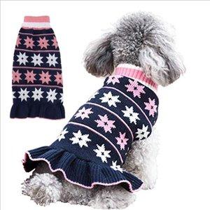 كلب الملابس الملونة جرو هوديي المنشورية منقوشة تريكو الكلب سترة الخريف لينة الدافئة الجرو الكلاب قميص الأزياء تصاميم YYS3573