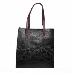 Women Handbag Leather Ladies Hand Bags Fashion Crocodile Pattern Pu Handbags Women Bags Designer Big Tote Bag For Women 2020