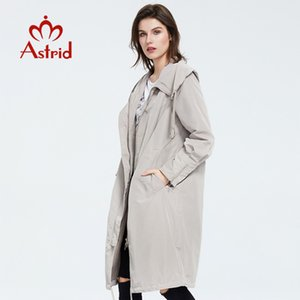 Astrid 2020 new Spring fashion long trench Hooded high quality Urban female Outwear trend Loose Thin coat ZS-7017