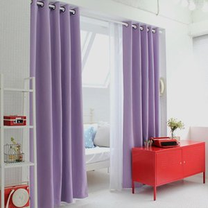 Korean Physical Blackout Curtains for Window Modern Light Purple Curtains for Living Room Bedroom Curtain Kitchen Single Panels