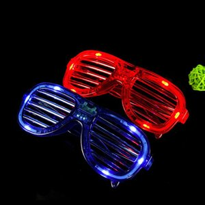 LED Light Glasses Flashing Shutters Shape Glasses Sunglasses Dances Party Supplies Festival Decoration Christmas Hollowen HHE3401