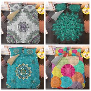 Colorful Indian Mandala Bedding Sets House Decor 2 3pcs Quilt Duvet Cover Set King Queen Twin Size Home Textile Z1126